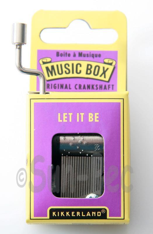 Let it be Kikkerland Wind-Up Hand Crank Music Box 1pcs