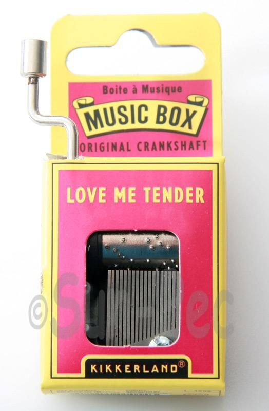 Love me Tender Kikkerland Wind-Up Hand Crank Music Box 1pcs
