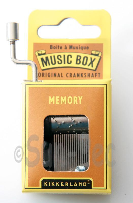Memory Kikkerland Wind-Up Hand Crank Music Box 1pcs