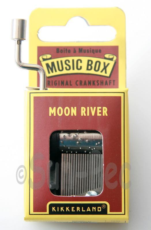 Moon River Kikkerland Wind-Up Hand Crank Music Box 1pcs