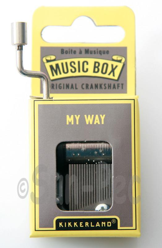My Way Kikkerland Wind-Up Hand Crank Music Box 1pcs