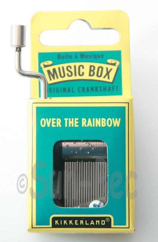 Over the Rainbow Kikkerland Wind-Up Hand Crank Music Box 1pcs