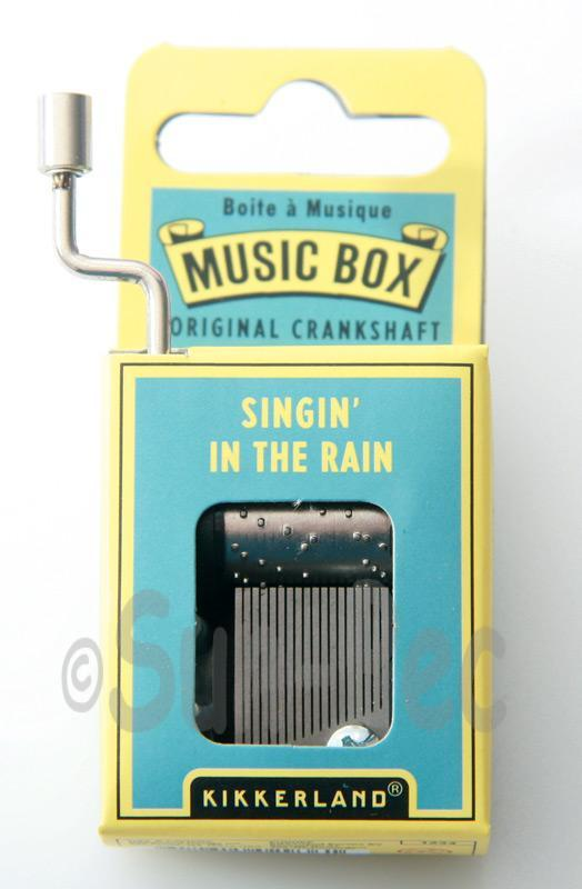 Singin in the Rain Kikkerland Wind-Up Hand Crank Music Box 1pcs