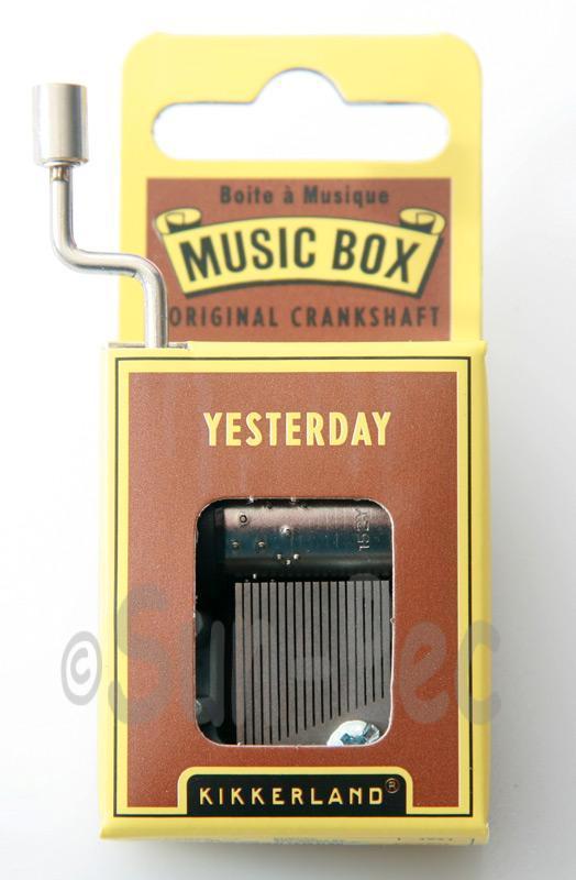 Yesterday Kikkerland Wind-Up Hand Crank Music Box 1pcs