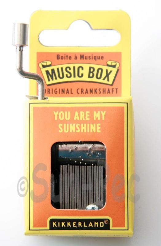 You are my Sunshine Kikkerland Wind-Up Hand Crank Music Box 1pcs