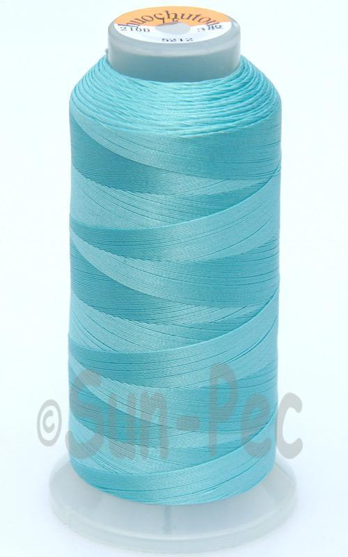 Aqua T70 (v#69) Bonded Nylon Sewing Thread 210D/3 1500 yard spool