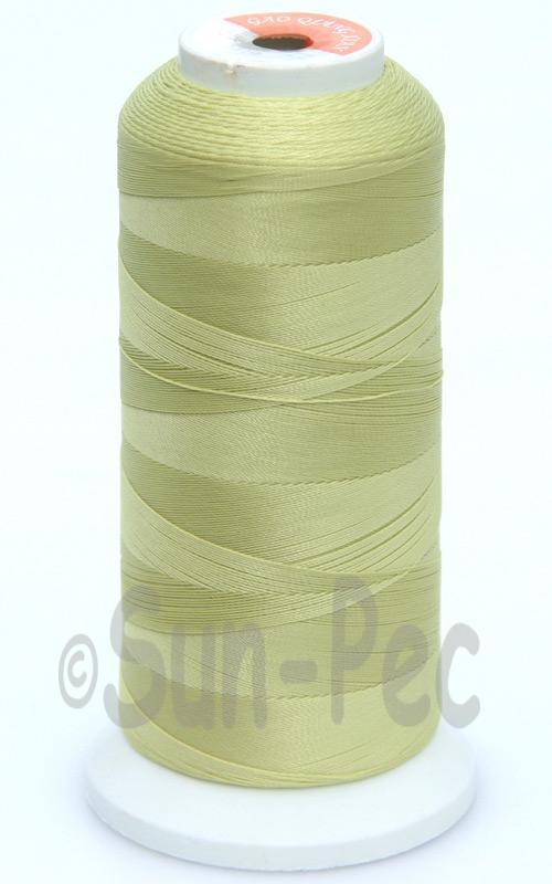 Pale Green-Yellow T70 (v#69) Bonded Nylon Sewing Thread 210D/3 1500 yard spool