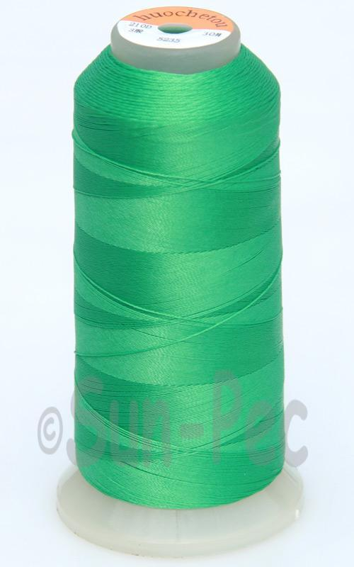 Green T70 (v#69) Bonded Nylon Sewing Thread 210D/3 1500 yard spool