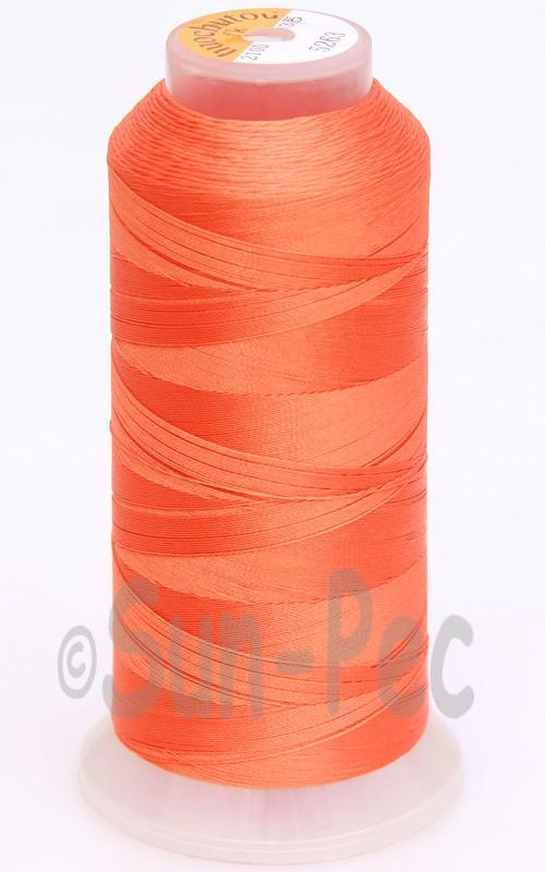 Orange T70 (v#69) Bonded Nylon Sewing Thread 210D/3 1500 yard spool