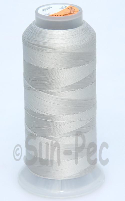 Ivory-Gray T70 (v#69) Bonded Nylon Sewing Thread 210D/3 1500 yard spool