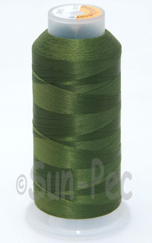 Olive T70 (v#69) Bonded Nylon Sewing Thread 210D/3 1500 yard spool