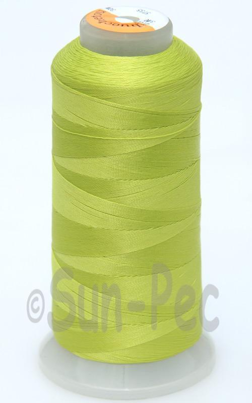 Bright Green T70 (v#69) Bonded Nylon Sewing Thread 210D/3 1500 yard spool