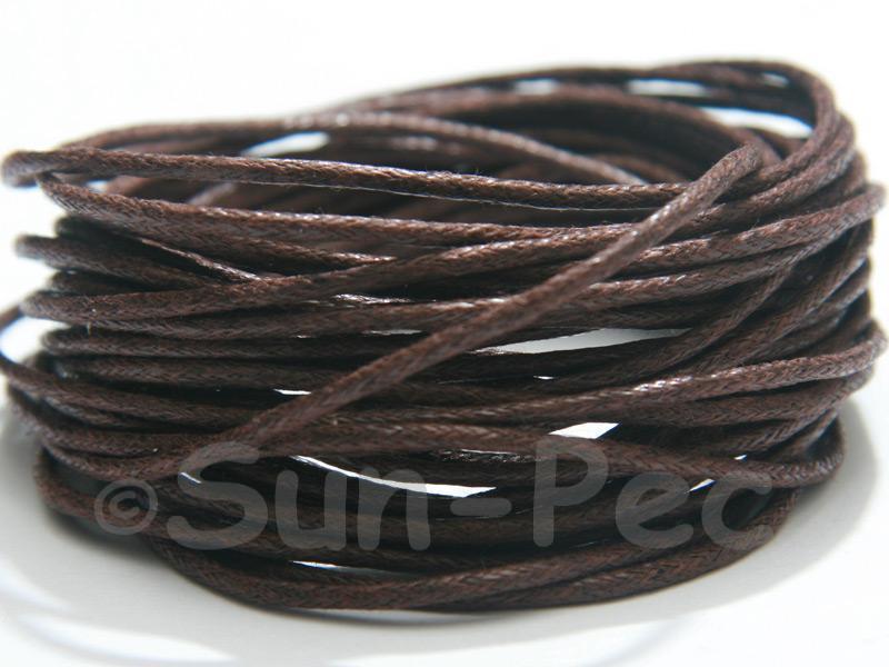 Dark Brown 1.5mm Smooth Coated Hemp Cord 5m - 50m