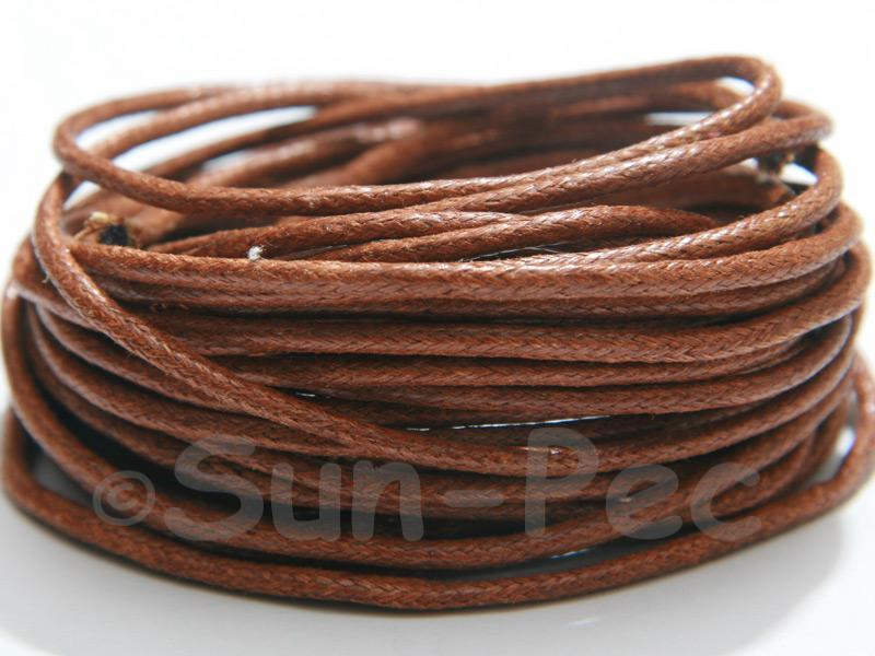 Brown 2mm Smooth Coated Hemp Cord 2m - 50m